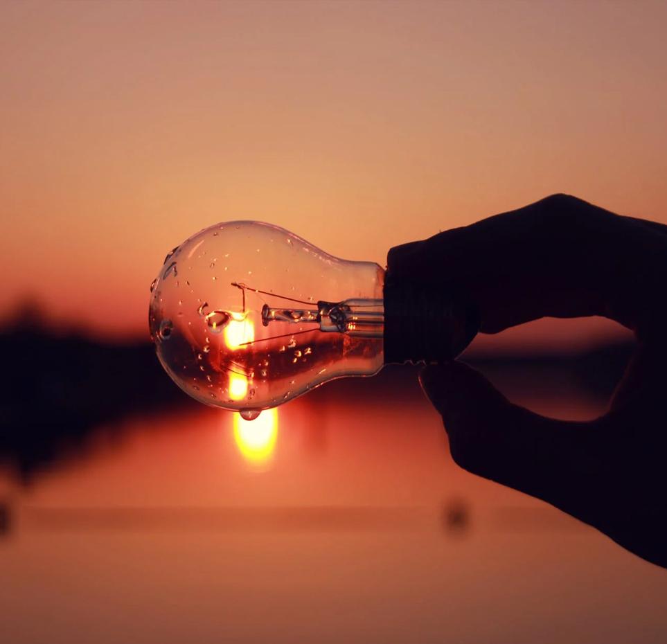 bulb sunset
